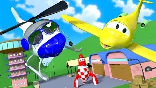Download Penny the Airplane is Missing in Car City !! The Car Patrol at the rescue | Cars & Trucks cartoon Video