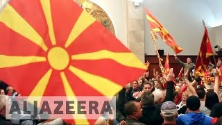 Download Macedonia nationalists violently storm parliament Video