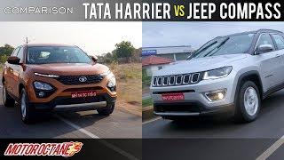 Download Tata Harrier vs Jeep Compass Comparison | Hindi | MotorOctane Video