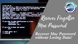 Download Reset Mac's password without losing DATA! - Easy - No Disc Video