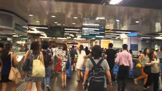 Download Walking inside and out of City Hall MRT station, Singapore Video