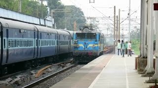 Download Funny : CONCOR (Goods) Train Overtakes Saurashtra Express : Only 6 Containers : INDIAN RAILWAYS Video