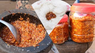 Download Khmer Original Style How To Make Chili Sauce To East With Khmer Noodle and Fish Good Test Video