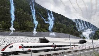 Download World's Longest Rail Tunnel Opens in Switzerland Video
