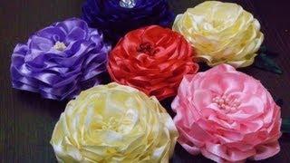 Download D.I.Y. Satin Ribbon Camellia Flower - Tutorial   MyInDulzens Video
