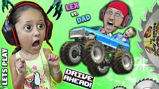 Download MONSTER TRUCKS ON MY HEAD! Duddy vs. Lex! Lets Play DRIVE AHEAD! (FGTEEV Crashing Stunt Vehicles) Video