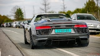 Download 2017 Audi R8 V10 Spyder - Launch Controls & Drag Races ! Video
