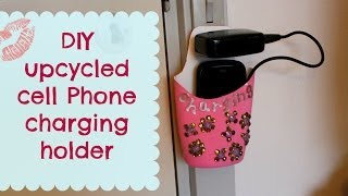 Download DIY upcycled cell phone charging holder Video