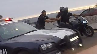 Download Police VS Motorcycle BUSTED By ANGRY COP Bike CAUGHT Running From The Cops Biker Gets ARRESTED 2016 Video
