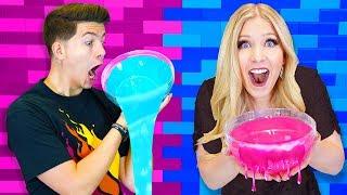 Download Boy vs Girl DIY Slime Challenge! (PrestonPlayz vs BriannaPlayz) Video