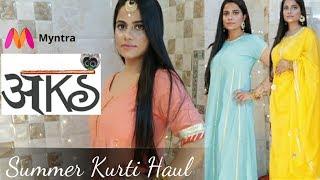 Download Aks Kurti Haul from Myntra - Best summer Indian wear | Sana K Video