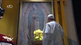 Download Le Pape François prie Notre-dame de Guadalupe et célèbre la Messe Video