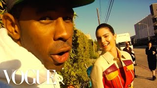 """Download Kendall Jenner; Tyler, The Creator; and Travis """"Taco"""" Bennett Take Over the Vogue Set Video"""