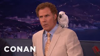 Download Don't Ask Will Ferrell About Professor Feathers - CONAN on TBS Video