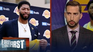 Download Nick Wright doesn't think it's championship or bust for AD & the Lakers   NBA   FIRST THINGS FIRST Video