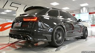 Download 730HP Audi RS6-R ABT with Milltek Exhaust INSANE Sound on the Dyno! Video