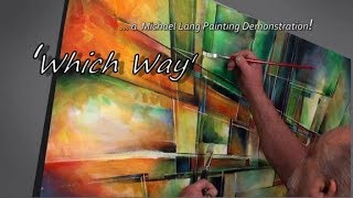 Download ″Which Way' Painting process, Simple tools, Fun Geometric Video