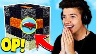 Download NEW OP BED DEFENSE! (Minecraft BED WARS Trolling) with PrestonPlayz Video