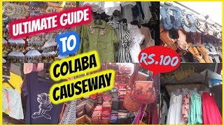 Download ULTIMATE GUIDE TO COLABA CAUSEWAY | 2018 LATEST TRENDS | MARKETS OF MUMBAI Video