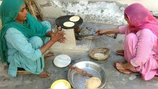 Download Roti prepared by Indian village women || village lifestyle // life of Punjab // Rural lifestyle Video