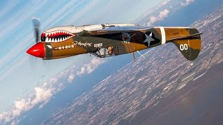 Download P-40 Loops Air-to-Air from a P-51 Mustang Video