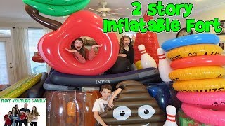 Download BUILDING A GIANT 2 STORY FORT OUT OF INFLATABLES! / That YouTub3 Family Video