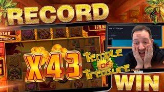 Download MUST SEE TEMPLE OF TREASURE INSANE BONUS!! Win Multiplier Record!!?? Video