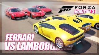 Download Forza Horizon 3 - Ferrari vs Lamborghini Challenge! (Relay Race & More) Video