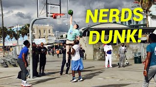 Download NERDS DUNK ON TRASH TALKING HOOPERS AT VENICE BEACH (Feat. Jesser & ZackTTG) Video
