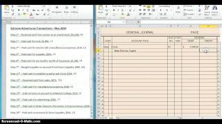 Download Recording Transactions into General Journal Video