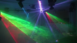 Download Home Disco Lights synchronized to Music 5, Scanners, Moving Heads, Lasers, DMX controlled Video