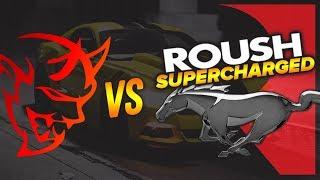Download Dodge Demon vs ROUSH Supercharger Mustang DRAG RACE | Demonology Video