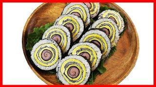 Download 햄 계란말이 김밥 만들기 :: Making ham eggroll kimbap Video
