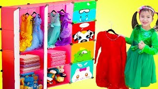 Download Jannie Pretend Play Princess Dress Up with New Clothes Closet Toy Video