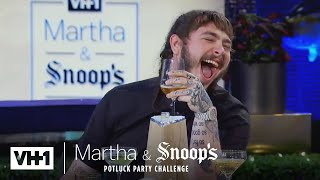 Download Martha Stewart Wonders Why Post Malone Came To Dinner | Martha & Snoop's Potluck Dinner Party Video