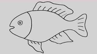 Ahtapot çizim Nasıl Yapılır çocuk Ve Bebek Için çizim Ve Boyama
