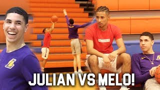 Download LaMelo Ball & Julian Newman Go At Each Other in Pick Up Game!! Video