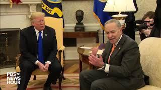 Download WATCH: Trump threatens shutdown in heated meeting with top Democrats Video
