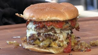Download Death By Triple Bacon Cheeseburger Recipe! Video