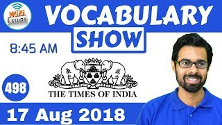 Download 8:45 AM - Daily The Hindu Vocabulary with Tricks (17 Aug, 2018) | Day #498 Video