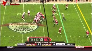 Download Quincy Enunwa (WR Nebraska) vs Georgia, 2014 Gator Bowl Video