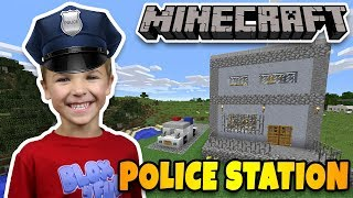 Download BUILDING REAL POLICE STATION in MINECRAFT SURVIVAL MODE Video