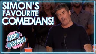 Download Comedians That MADE SIMON COWELL LAUGH! | Top Talent Video