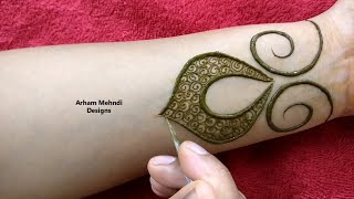 Download New Stylish and Easy Mehndi Design for Front Hand || Arham Mehndi Designs Video