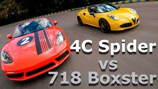 Download 718 Boxster vs 4C Spider 2017 - Convertibles con motor central   Autocosmos Video