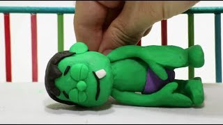 Download Baby Hulk needs Teddy bear Stop Motion Play Doh Cartoon for children Video