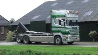 Download scania R500 V8 van het Goor containers laden. Video