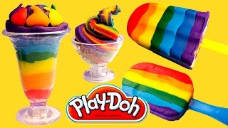 Download Play Doh Ice Cream Playdough Popsicles Play-Doh Scoops 'n Treats Hasbro Toys Playset Video
