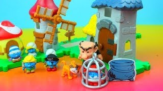 Download The Smurfs Micro Village Gargamel Castle & Windmill Playset Video