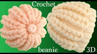 Download Gorro a Crochet punto trenzas mágicas 3D tejido paso a paso tallermanualperu Video